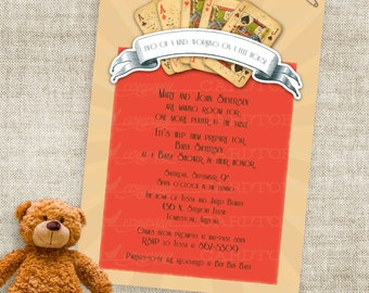 Game Night Poker Party Baby Shower or Birthday Invitation Printable Custom Invites with Professional Printing Option