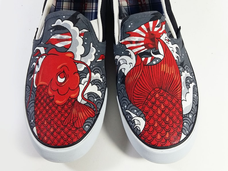 87591ca94d8 70% OFF Euro size 41 Sole Defect Custom painted Red Koi