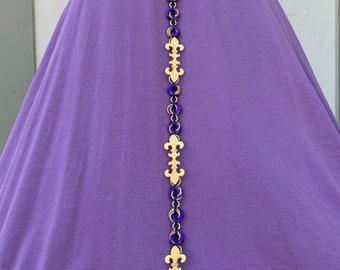 Purple and Gold Fleur De Lis Girdle