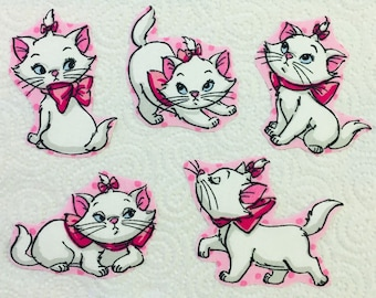 8abc6882 Disney Marie Patches Iron on Disney Patch Aristocats Fabric Applique  motifs. Set of Iron on transfers/Sew on motifs Fabric Embellishments