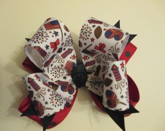 Forth Of July Party Bow