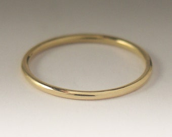 Gold Ring, Solid Yellow Gold Ring, Simple Gold Ring, 14K Yellow Gold Ring, Dainty Gold Ring, Delicate Gold Ring, Simple Round Wedding Band