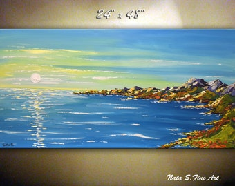 a79325febd0 Blue Ocean Large Abstract Painting