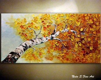tree paintings etsy