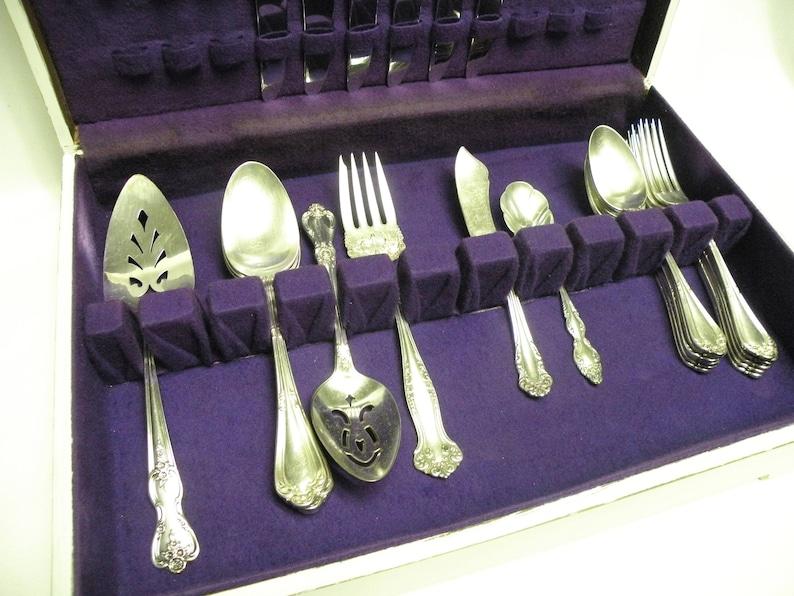 Rogers - Wedding Farmhouse 28 Piece Set etc Vintage Silverplate Flatware Mixed Oneida Tea Party Holidays Cottage Chic