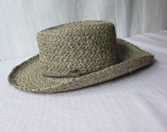 144dac76 HAT Scala natural straw chin strap Fishing Boating Summer Beach straw  leather