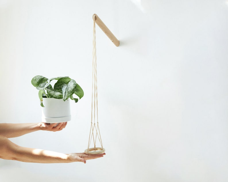 Hanging planter with natural thread wall planter indoor image 0