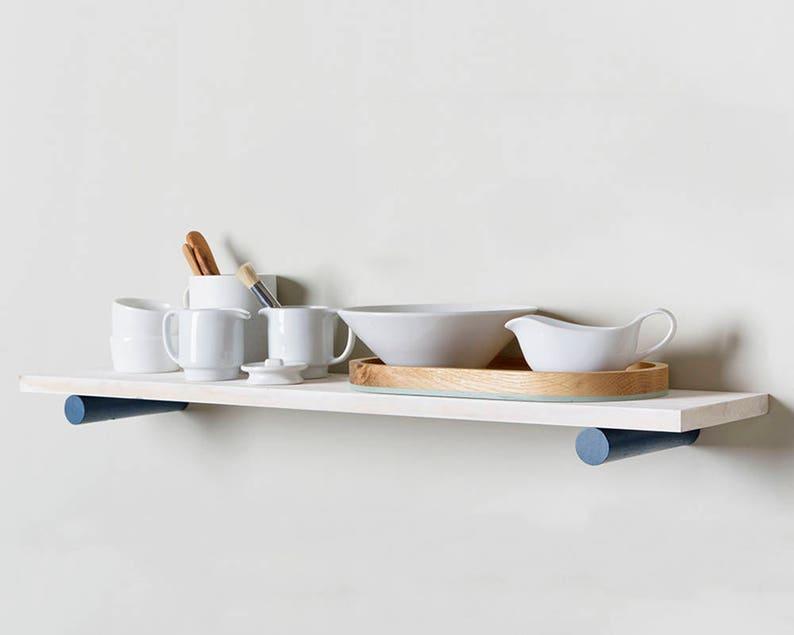 Houten Plank Voor Aan De Muur.Plank Met Moderne Plank Haakjes Zwevende Planken Muur Plat Etsy
