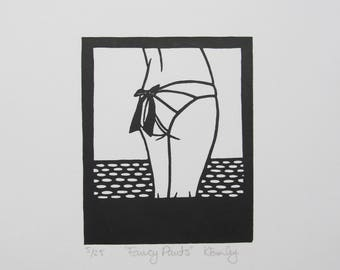 Fancy Pants - Original Linocut Print - Signed, Numbered Edition of Just 25 - Free Postage in UK