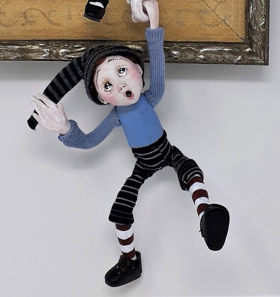 Jack And Jillsculpted Figure Doll In Shadowbox Etsy