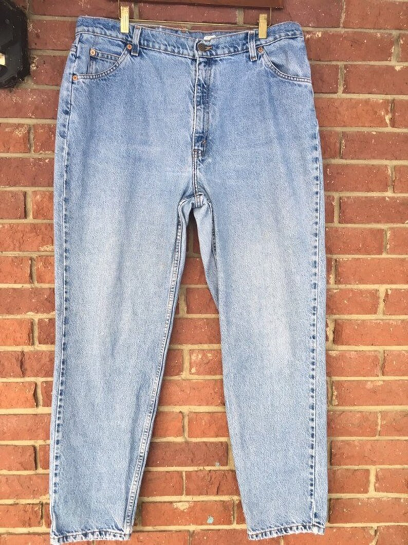 84a33c83 Plus Size Mom jeans vintage Levi's 921 orange tab Slim   Etsy