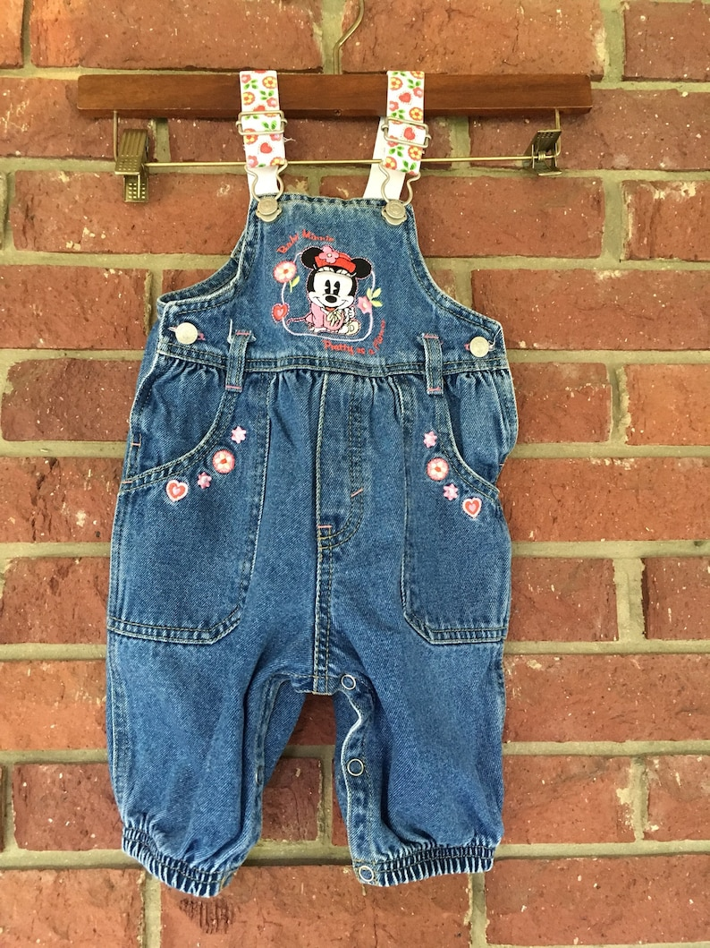 91ff632c4 Vintage Baby Overalls Minnie Mouse Disney Babies Infant | Etsy