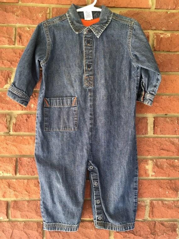 1bf51d88cb39 Vintage Baby Jumpsuit Gap jeans babyGap 18-24 month 18M 24M