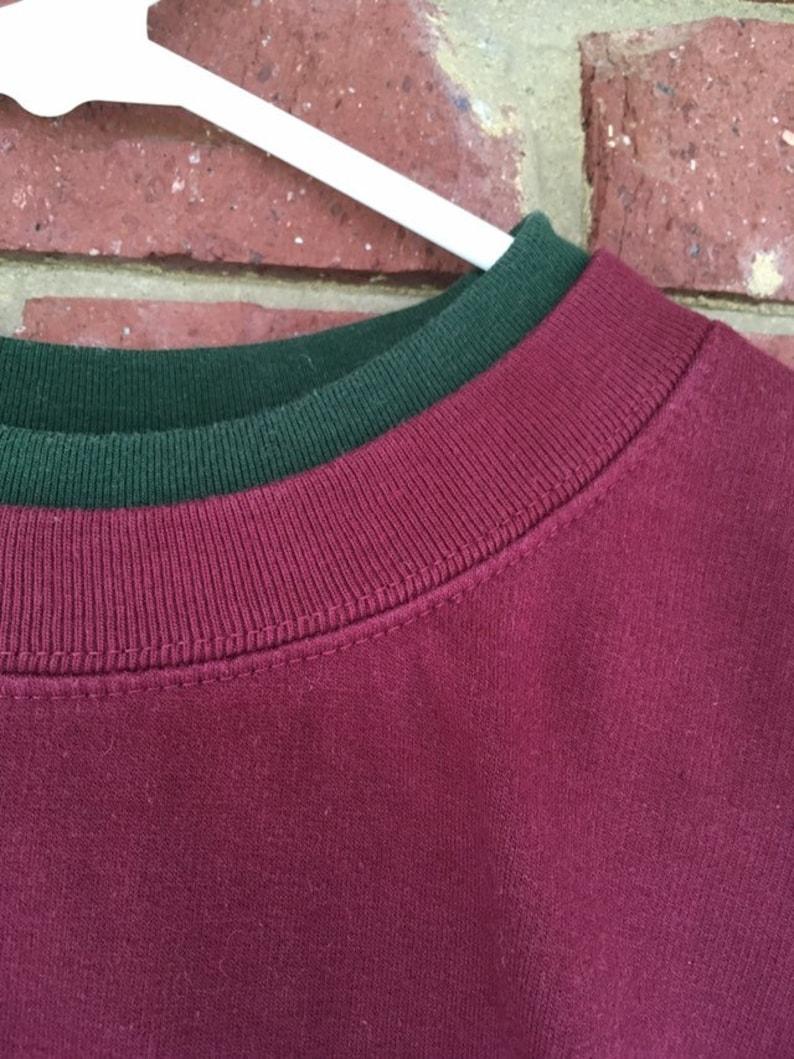 grandkids pullover, Patchwork Sweatshirt Vintage Grandma Sweater Grandmother Christmas heart appliqu\u00e9 sustainable gift Women/'s size L