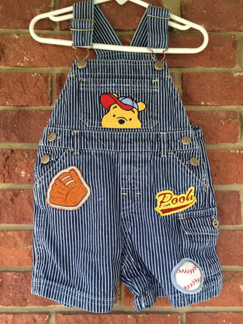 be844fe0 Winnie the Pooh overalls Toddler 18M 18 mo Vintage Denim | Etsy