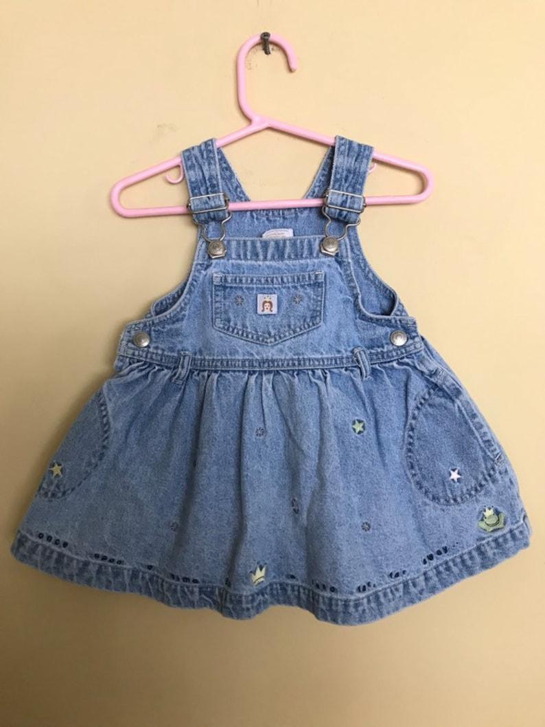 f40df0d51e Baby Jean Jumper denim overalls skirt babyGap Gap vintage