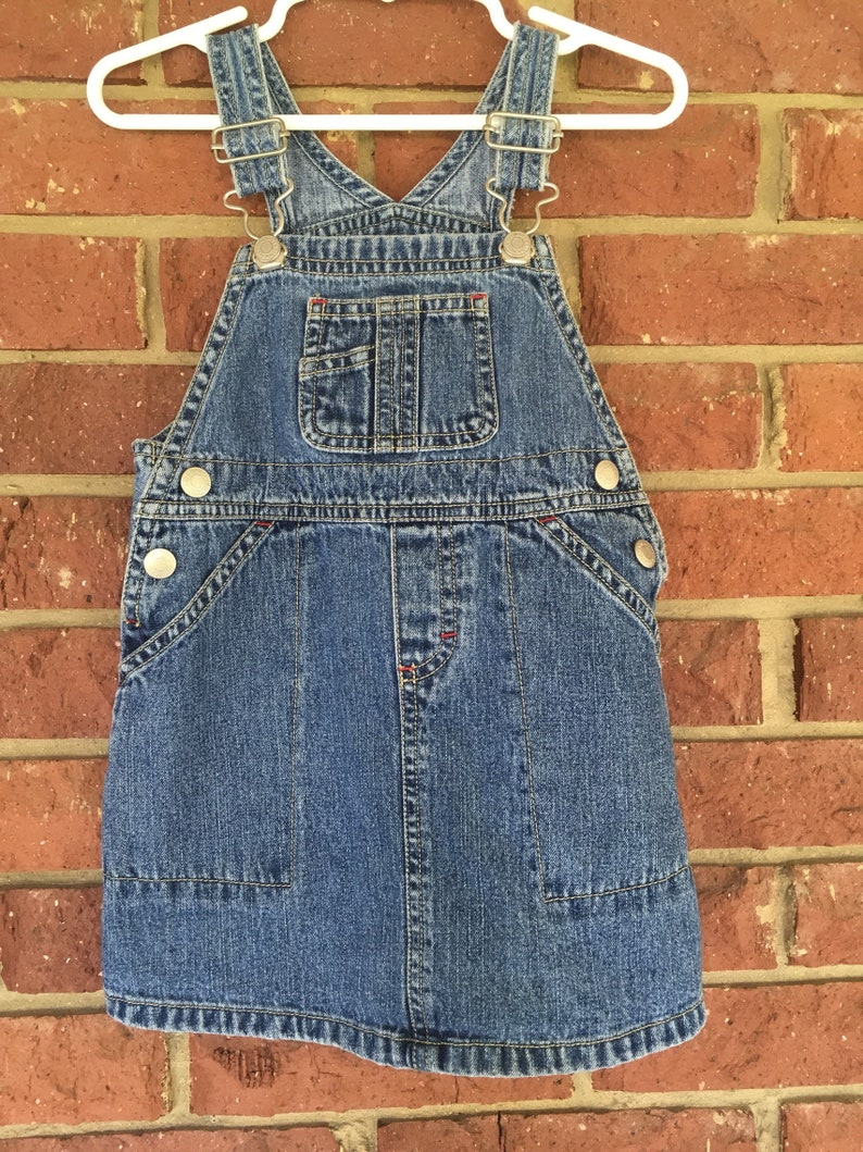 bb25a61bfc7 Toddler Jean JUMPER denim overalls skirt Old Navy baby size