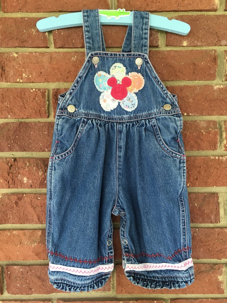 266f66ac55db Mickey Mouse OVERALLS baby girl 3M 3 mo 6M 6 mo 3 6M Girls