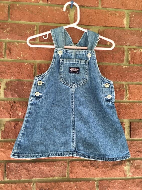 35b4326b7004 Oshkosh Girls JUMPER denim overall skirt Osh Kosh vintage