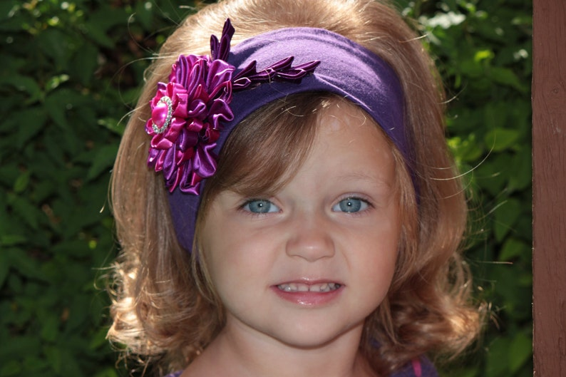 Sale fall headband purple fuschia violet purple plum headband purple harvest rich beautiful diamond photo prop portrait infant headband
