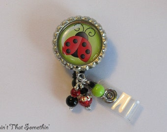 Lovin' Those Ladybugs Retractable Badge Reel
