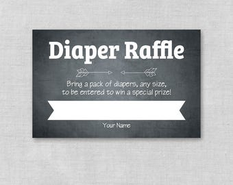 printable baby shower diaper raffle ticket diaper raffle etsy