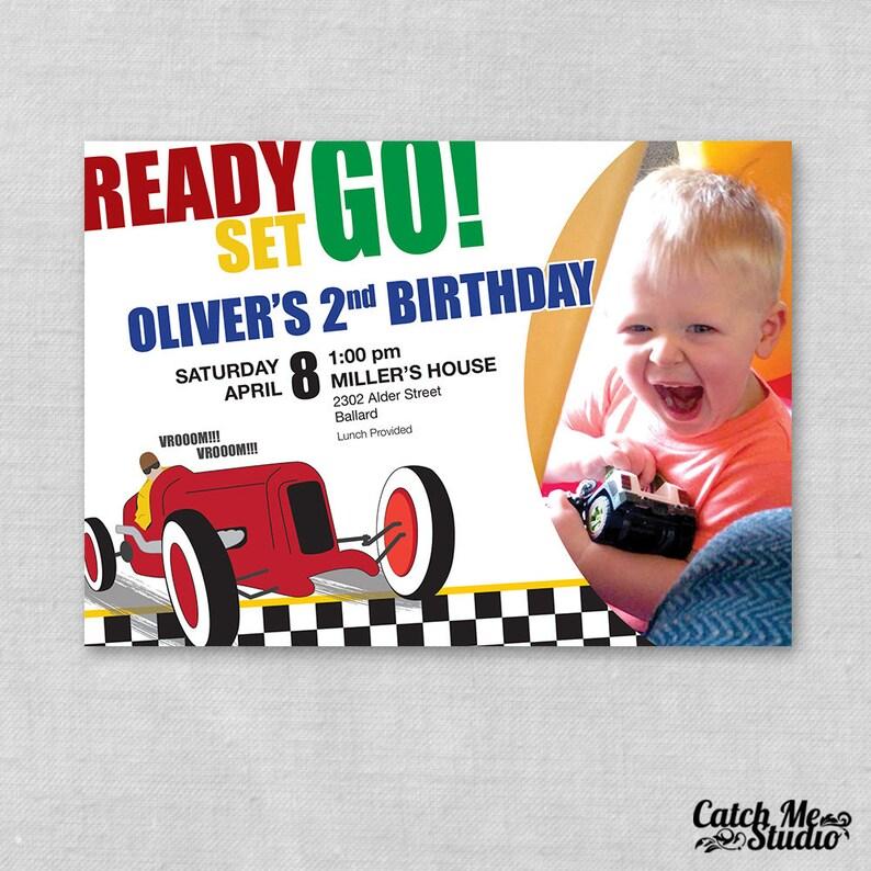 Printable Race Car Birthday Invitation Theme Invite