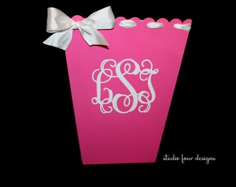 Personalized Trash Can Monogram Trashcan Assorted Colors Dorm room