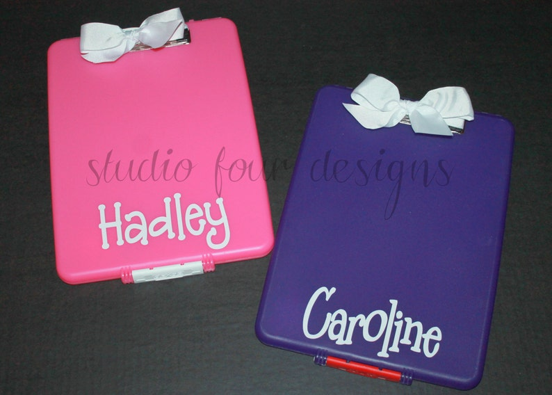 Personalized Clipboard Case Overnight Camp Stationery Holder