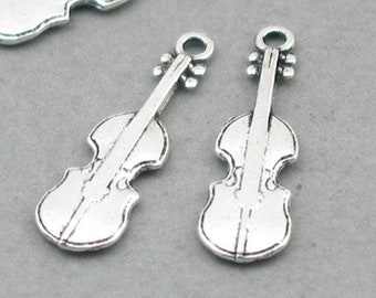 38fcaada1 ... cheapest 12 violin charms violin pendant beads antique silver 7x23mm  cm1010s 0b4ec 275ac