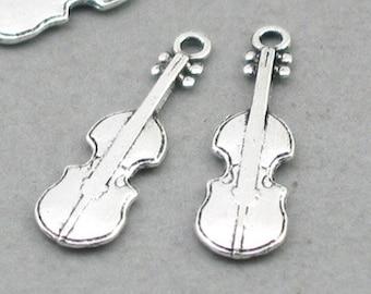 0e5124ae4 ... cheapest 12 violin charms violin pendant beads antique silver 7x23mm  cm1010s 0b4ec 275ac