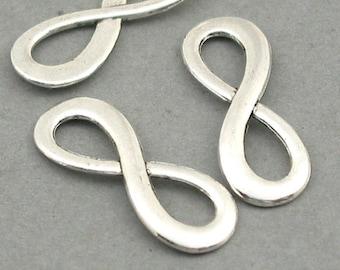 Wholesale Endless Love pendant beads Antique Bronze 8X24mm CM0346B BULK 40 Infinity Charm Connectors