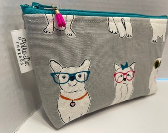 mouse zipper pouch  zippered bag  makeup bag  mouse zipper bag  zippered pouch  quirky zipper pouch  gifts for animal lovers