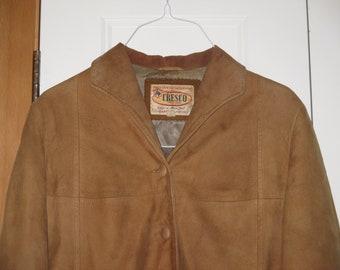 Rare Vintage 1960s - 1970s Cresco Suede Western Rustic Outdoors Sportsman Jacket