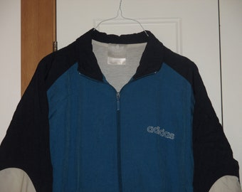 Rare Vintage 1990s Adidas Hip Hop Rave Logo Track Jacket