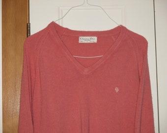 Rare Vintage 1980s Christian Dior Logo Sweater