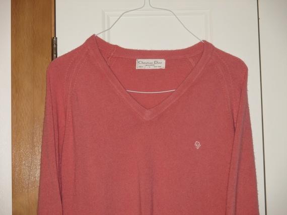 Rare Vintage 1980s Christian Dior Logo Sweater - image 1