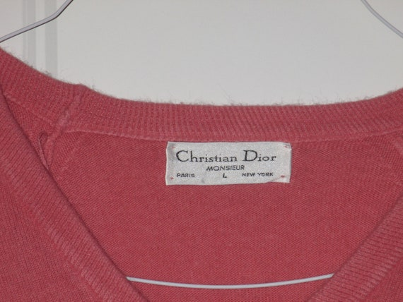 Rare Vintage 1980s Christian Dior Logo Sweater - image 8