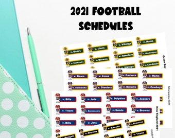 Pro football team football schedules