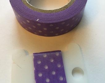 Purple polka dot washi sample