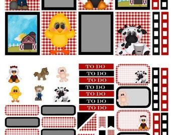 Farm kit planner stickers