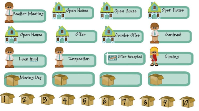 real estate planner stickers buying or selling a house image 0
