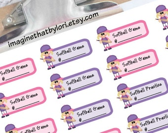 Softball planner stickers