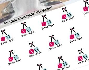 Bunco Night Planner Stickers for your Erin Condren Planner