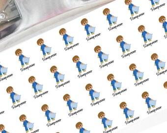 Sleepover boy planner stickers