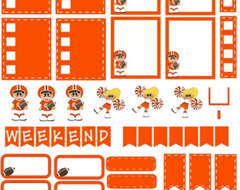 Football Planner Stickers orange