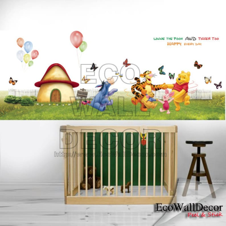 Winnie The Pooh Tigger Train Removable Wall Sticker Decal Kids Nursery Decor Art Wall Décor