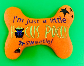 DogPuppy Stuffed Bone Toy Just here for the food Dog Toy Thanksgiving Dog Bone Toy