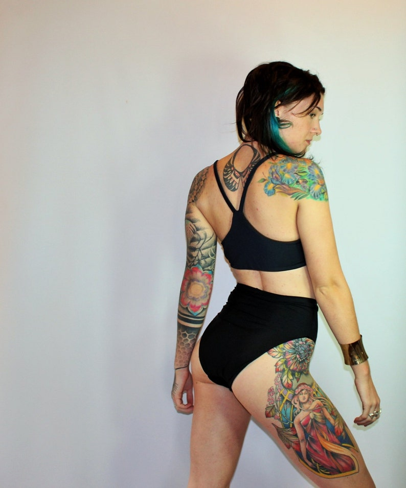 1bd69c6c18ca7 Extra High French Cut High Waist Bikini Swimsuit Bottoms | Etsy