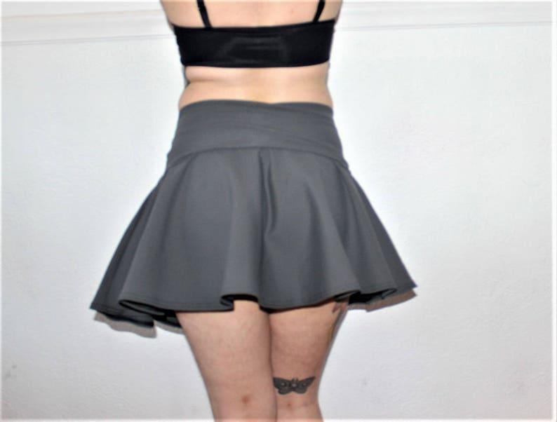 aee8aa2e4cab2 High Waisted Foldover Swim Skater Skirt Coverup /Custom Size | Etsy
